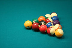 8 ball rack Stock Photo