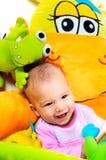 8 behandla som ett barn gammala månader Royaltyfria Bilder