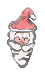 8-Bit Santa. Face created in Illustrator that is perfect for that Christmas Design Decoration vector illustration