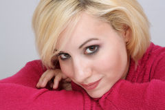 8 blondynki piękny headshot Zdjęcie Royalty Free