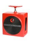 8 boombox red retro track Στοκ Εικόνα
