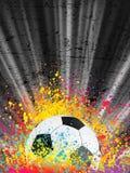 8 brast affischen för eps-fotbolllampa Arkivbild
