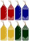 8 christmas tags Stock Photos