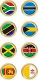 8 Countries Royalty Free Stock Photos