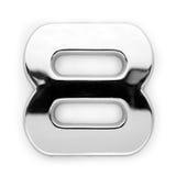 8 cyfr metal obrazy stock