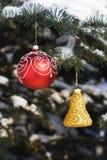 8 dekoracji drzewo bożego narodzenia Zdjęcia Stock