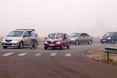 8 dell'agosto 2010. Regione di Moscower sotto fumo Immagini Stock