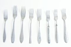 8 different forks Royalty Free Stock Images