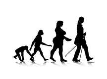 8 ewoluci istota ludzka Zdjęcia Stock