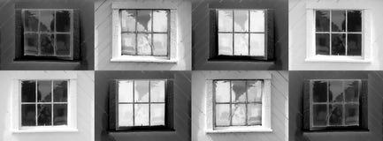 8 fönster arkivfoto