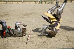 8 faire rycerzy renesansu bitwy przyjemności. Zdjęcia Stock