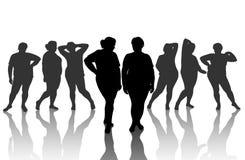 8 figures de femme épais Image libre de droits