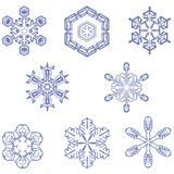 8 flocos de neve Foto de Stock