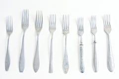 8 fourchettes différentes Images libres de droits