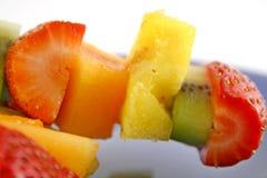 8 fruktkebabs Arkivfoto