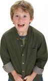 8 gammala år för förtjusande pojke Royaltyfri Fotografi
