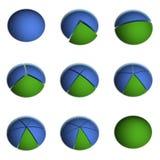 8 gráficos circulares del asunto