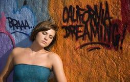 8 grafitti poserar Royaltyfria Bilder