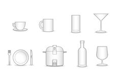 8 household vector collection Royalty Free Stock Photography