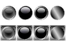 8 iconos de los botones del Web stock de ilustración