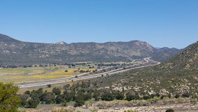 8 Kalifornien interstate sydligt Arkivfoto