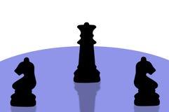 8 kawałków szachowych Obrazy Royalty Free