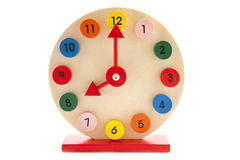 8 klocka o Arkivbild