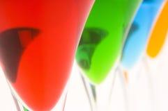 8 koktajli kolorowych Zdjęcie Royalty Free