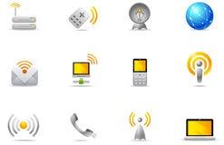8 komunikacyjnych ikon philos ustawiający radio