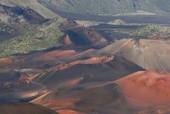 8 kraterów haleakala Zdjęcie Royalty Free