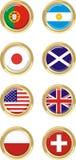 8 länder stock illustrationer