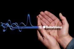 8 lösningar Arkivfoton
