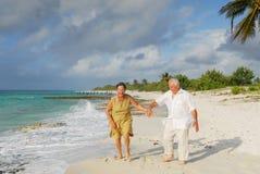 8 lyckliga pensionärer Arkivbild