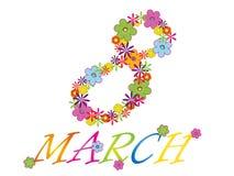 8. März Stockbild