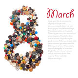 8. März-Symbol Lizenzfreies Stockbild