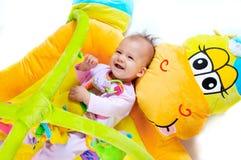 8 maanden oud baby Stock Foto