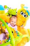 8 maanden oud baby Stock Foto's