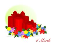 8 March gifts, cdr vector Stock Photography