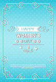 8 March International Women Day Greeting Card Stock Photo