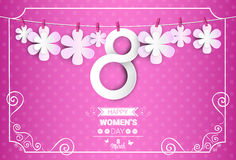 8 March International Women Day Greeting Card Stock Photos