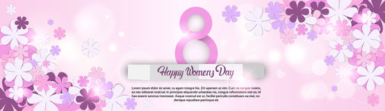 8 March International Women Day Greeting Card Stock Image