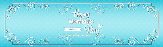8 March International Women Day Greeting Card Stock Images