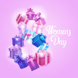 8 March International Women Day Greeting Card Royalty Free Stock Photography