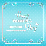 8 March International Women Day Greeting Card. Flat Vector Illustration Vector Illustration