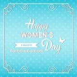 8 March International Women Day Greeting Card. Flat Vector Illustration Stock Photos