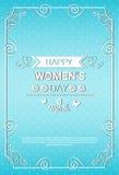8 March International Women Day Greeting Card. Flat Vector Illustration Stock Photo