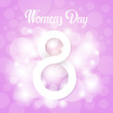 8 March International Women Day Greeting Card. Flat Vector Illustration Royalty Free Stock Photos