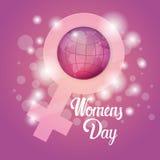 8 March International Women Day Greeting Card. Flat Vector Illustration royalty free illustration