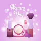8 March International Women Day Greeting Card. Flat Vector Illustration vector illustration