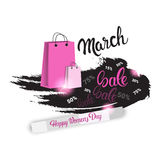 8 March International Women Day Sale Shopping Discount Royalty Free Stock Photography